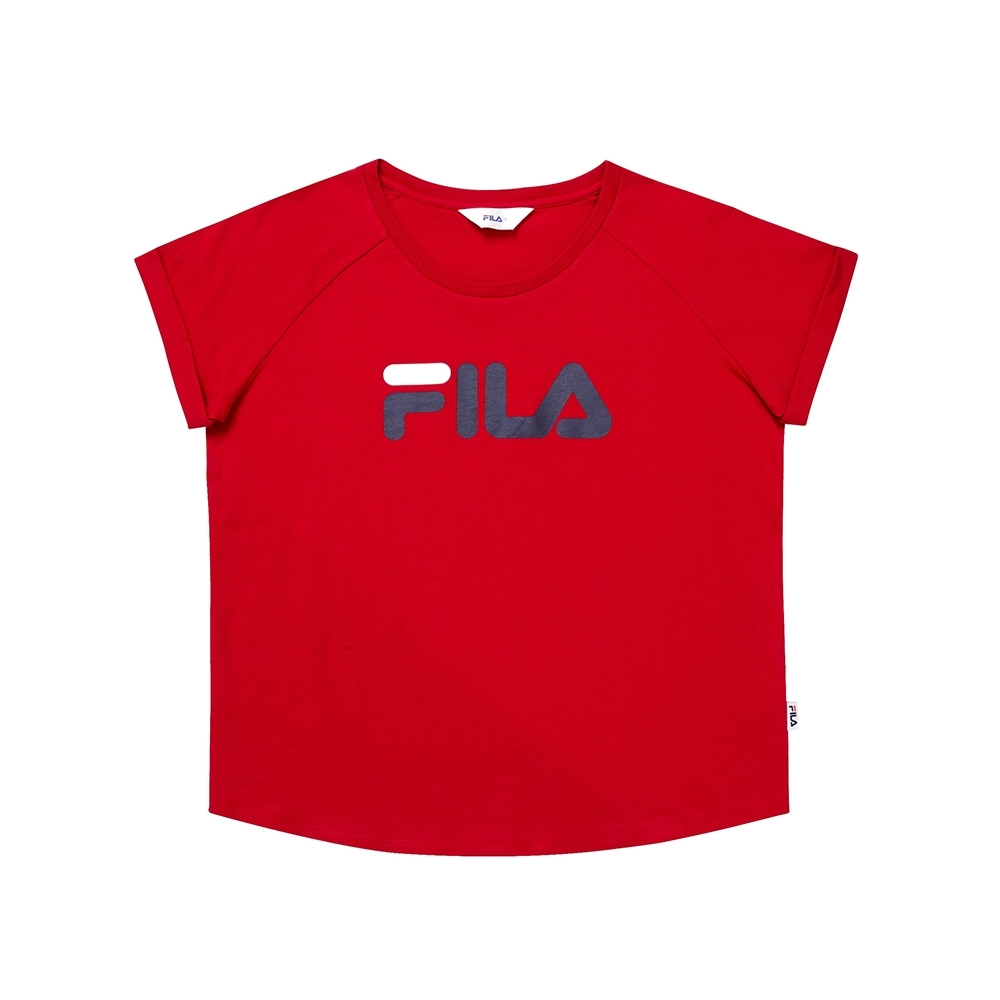 FILA 圓領上衣-紅 5TEU-1505-RD