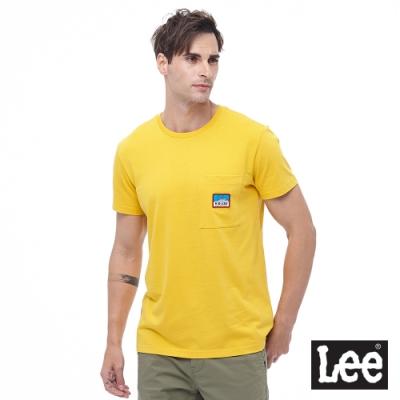 Lee 短T 前口袋部標編織後logo印刷 男 黃