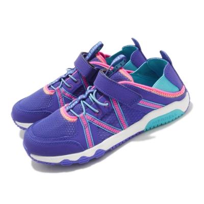Merrell 戶外鞋 Hydro Free Roam 童鞋 快乾 後跟鬆緊帶 好穿脫 赤足腳感 藍 粉 MK164951