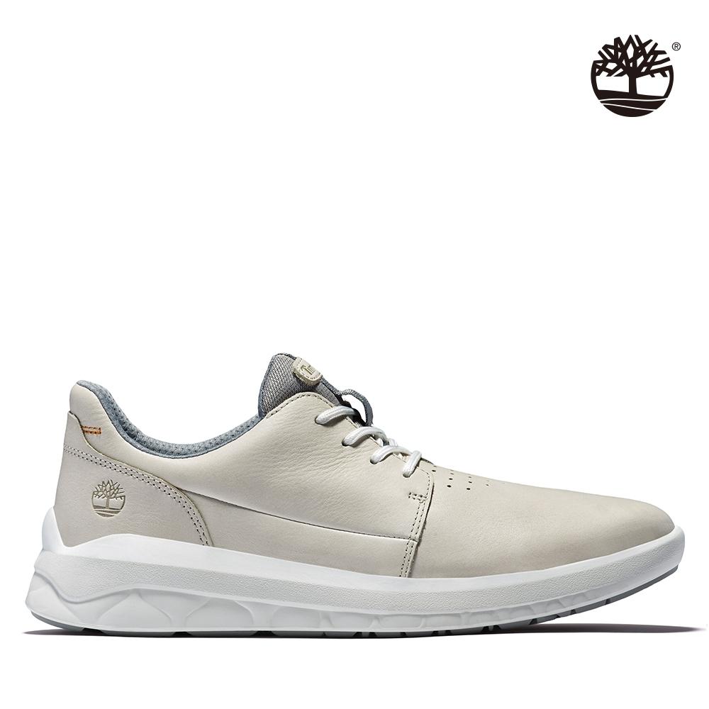 Timberland 男款白色全粒面革牛津休閒鞋|A2MPT