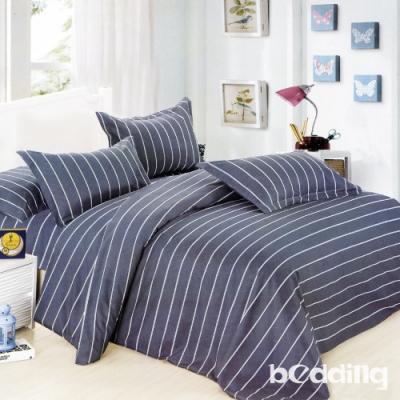 BEDDING-活性印染 特大6x7尺床包三件組-藍色格調