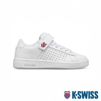 K-SWISS Court Casper VLC時尚運動鞋-童-白