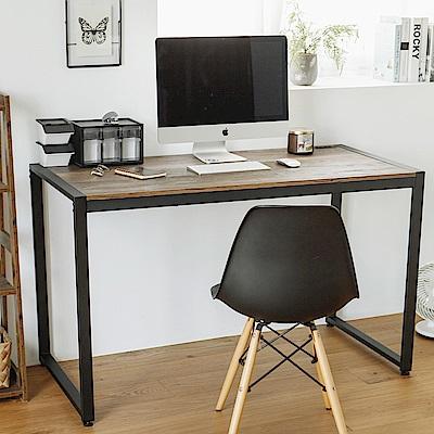 完美主義 工業風附插座工作桌/書桌/電腦桌-128X60X77