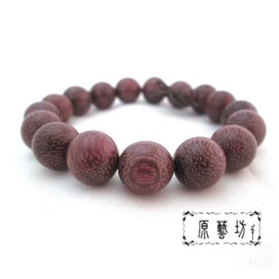 原藝坊 天然浪漫玫瑰 紫檀木 佛珠手鍊(直徑12mm)