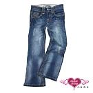 【天使霓裳-童裝】活力街頭 刷白兒童牛仔長褲(藍)