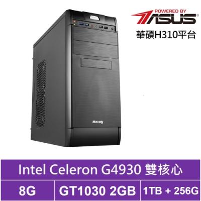 華碩H310平台[飛鳥特攻]雙核GT1030獨顯電玩機