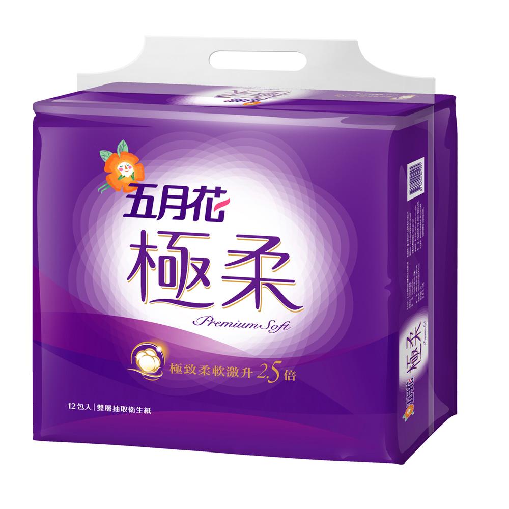五月花極柔頂級抽取式衛生紙110抽 x72包/箱