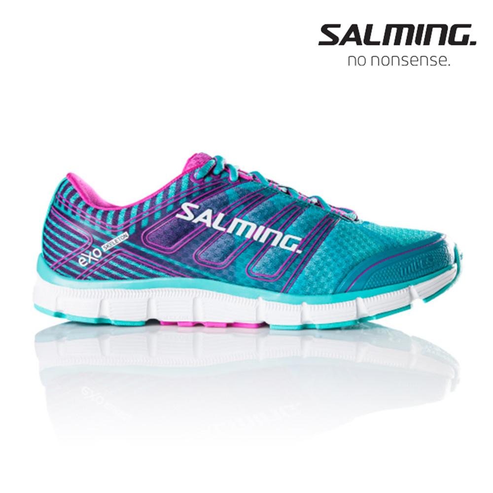Salming MILES 寬楦 女 訓練慢跑鞋 藍粉