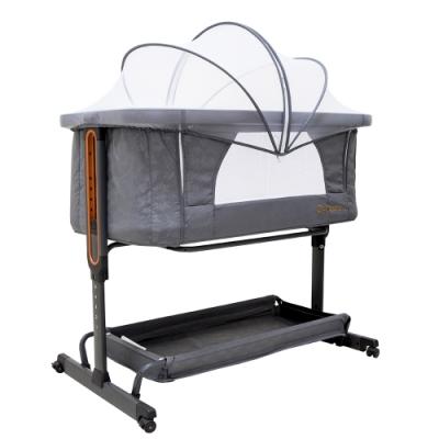(買就送10%超贈點)美國 CAPUCCI 卡普奇3in1嬰兒床邊床 附贈蚊帳 (2色可選)