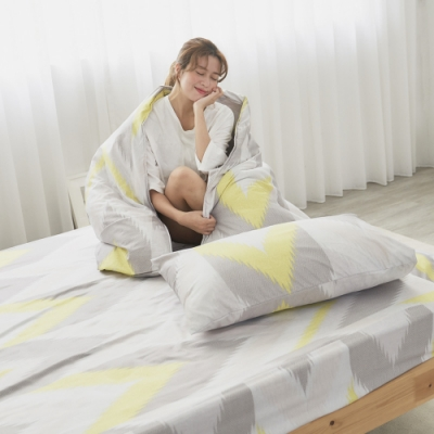 BUHO 舒涼TENCEL天絲雙人加大三件式床包枕套組(清月波粼)