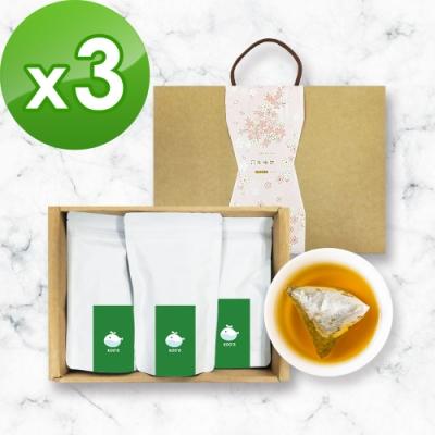 KOOS-清韻金萱烏龍茶-禮盒組3盒(3袋1盒)