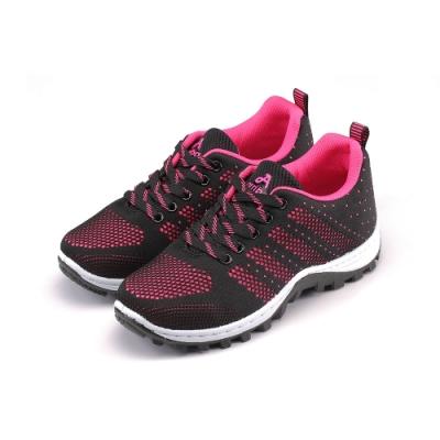 ARRIBA艾樂跑女鞋-飛織休閒鞋-黑桃(FA553)
