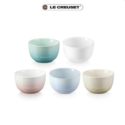 [結帳7折]LE CREUSET瓷器花蕾系列餐碗11cm 5入(雪花白/沙丘白/淡粉紅/海岸藍/薄荷綠)