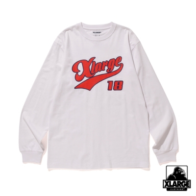 XLARGE L/S TEE XLARGE 18長袖T恤-白