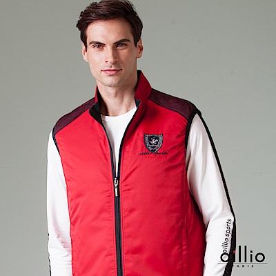 歐洲貴族 oillio 休閒背心 雙面穿搭款 電腦刺繡 紅色