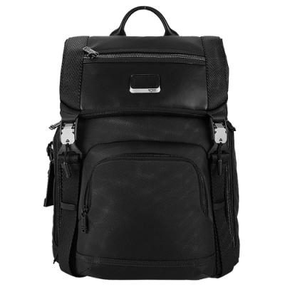 TUMI ALPHA BRAVO LARK系列15吋筆電雙皮帶翻蓋多夾層後背包(黑)