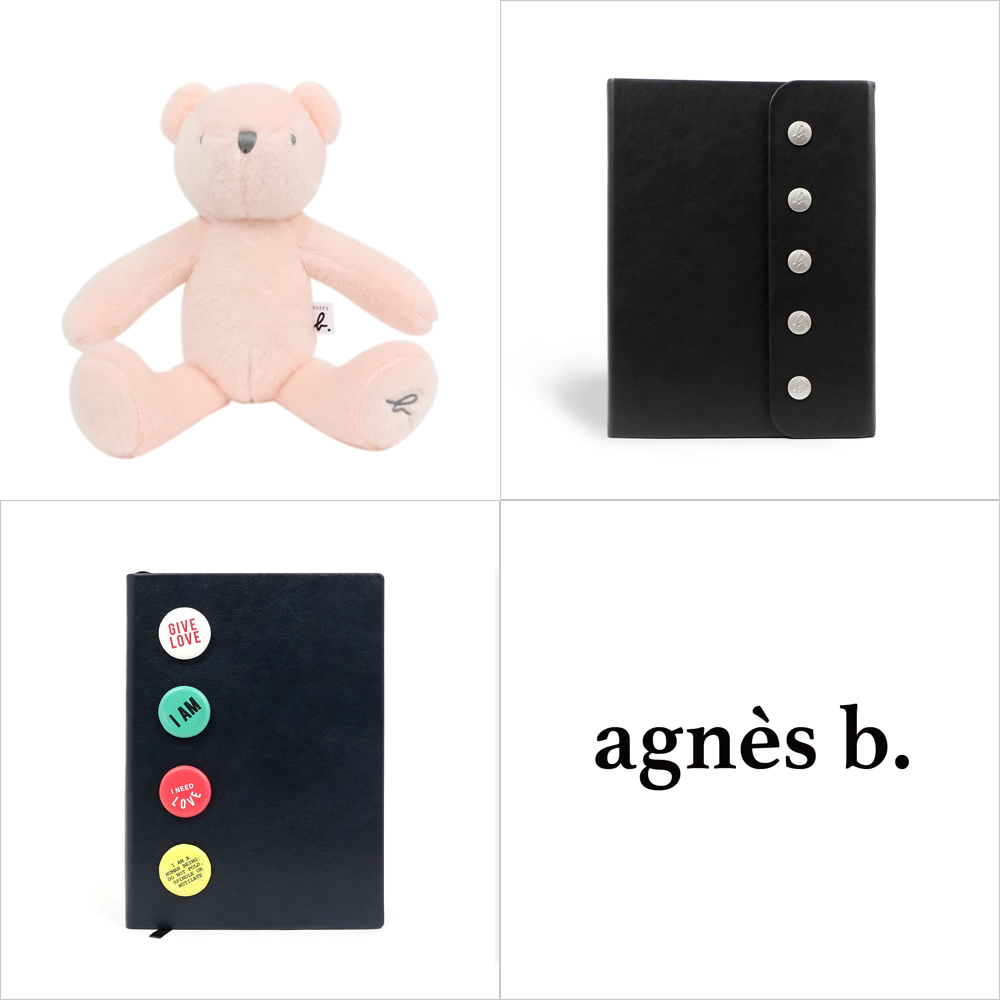 agnes b.小熊玩偶/筆記本