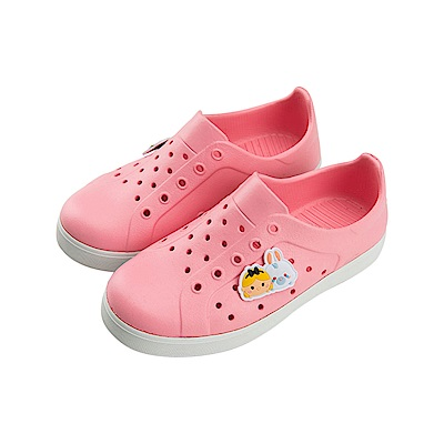 迪士尼 TsumTsum 米妮愛麗絲 防水休閒鞋-粉