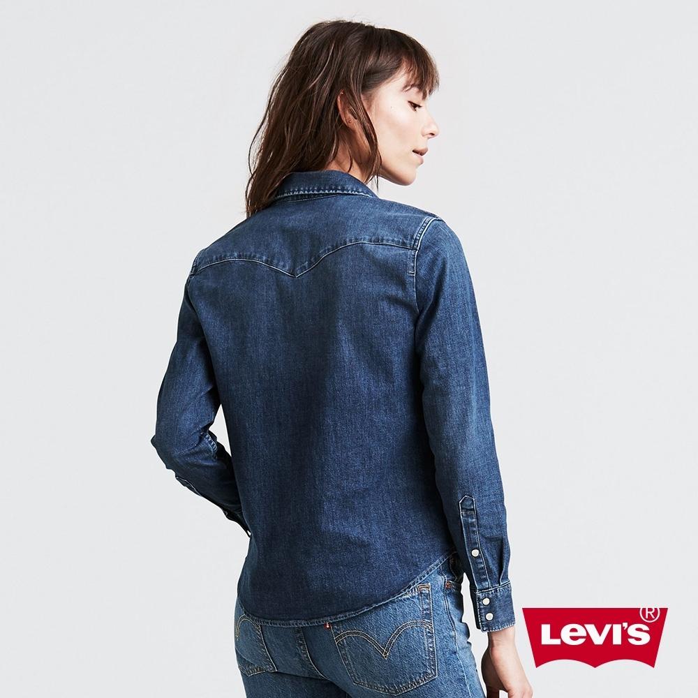 Levis 女款 牛仔襯衫 Barstow V型雙口袋 經典修身版型 彈性布料