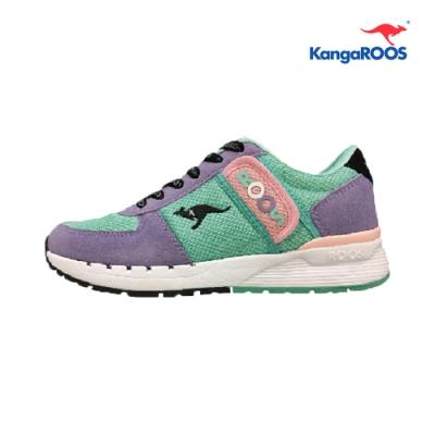 KangaROOS COMBAT- CB 經典口袋女慢跑鞋 藍紫 KW91057