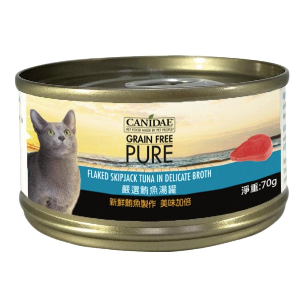 CANIDAE 無穀主食罐鮪魚湯罐 (70gX24罐)