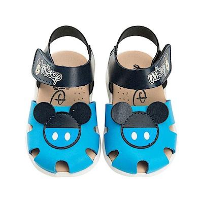 迪士尼童鞋 米奇 手工涼鞋-藍
