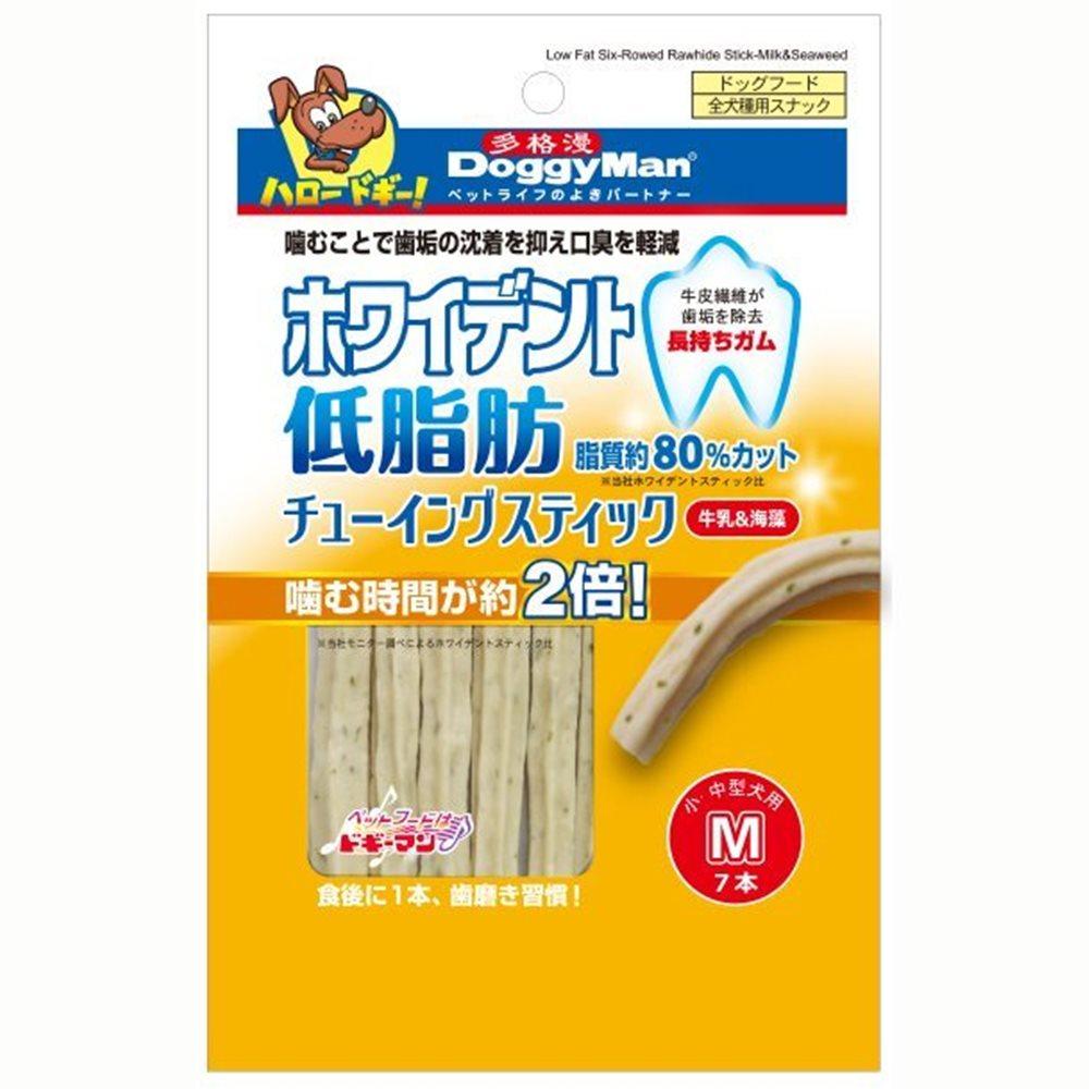 【任選】DoggyMan《新概念牛皮咬膠》海藻+牛奶 M號 7支入