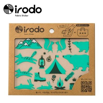 Irodo繽紛布貼免熨斗布用轉印貼紙-大 (露營趣/海邊/森林樂園系列)