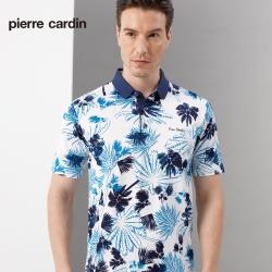 Pierre Cardin皮爾卡登 男裝 吸濕排汗印花短袖polo衫-藍色(5197212-37)