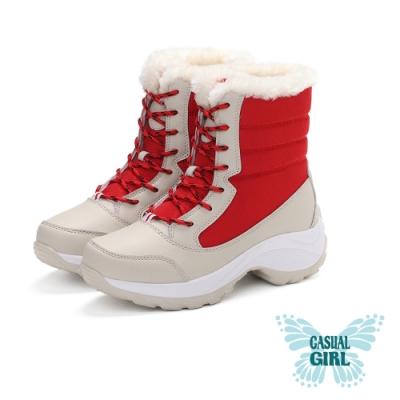 Casual Girl「SKR」健走保暖雪靴 (紅色)