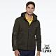 【Lynx Golf】男款防潑水防風保暖Lynx Sport繡花胸袋款連帽可拆式長袖羽絨外套-墨綠色 product thumbnail 1