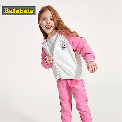 Balabala巴拉巴拉-俏皮小兔女孩連帽外套-女(3色)