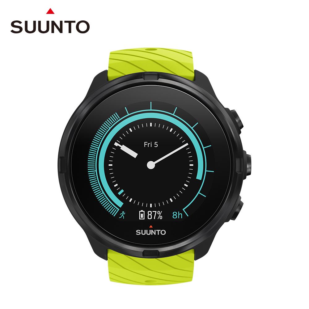 SUUNTO 9 堅固強勁 超長電池續航力的多項目運動GPS腕錶 (萊姆綠)