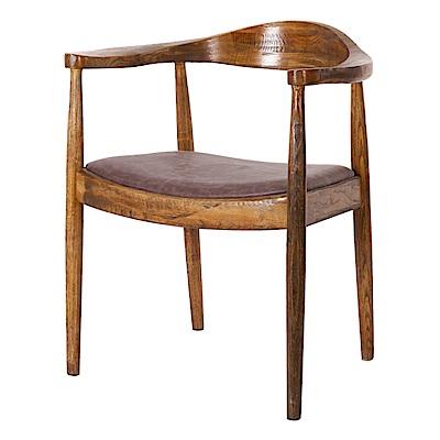 AS-托比仿古棕色餐椅-64x55x75cm