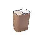 DaoDi日本熱銷乾溼分離按壓彈蓋式分類垃圾桶大容量15L多色任選