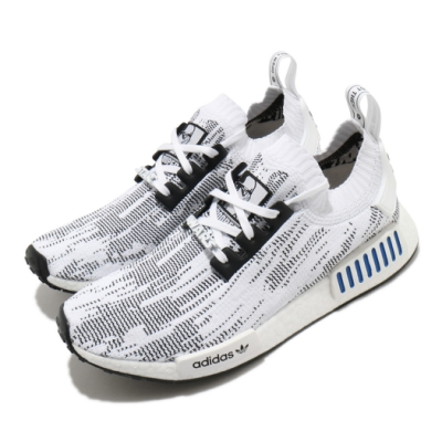 adidas 休閒鞋 NMD R1 襪套式 白兵 男鞋 愛迪達 三葉草 Boost 緩震 星際大戰 白黑 FY2457