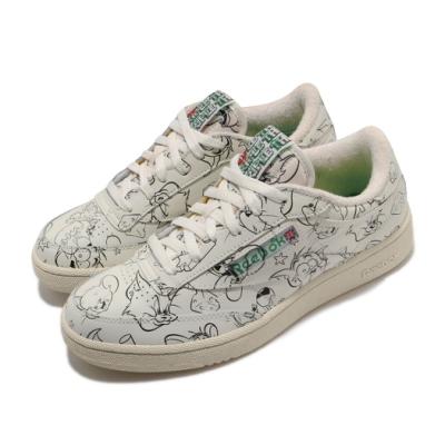 Reebok 休閒鞋 Club C 85 MU 聯名 男鞋 海外限定 經典卡通 Tom&Jerry 米白 黑 FX4011