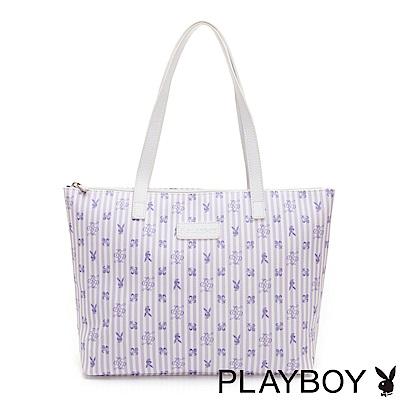 PLAYBOY- 托特包 P-Peach系列-薰衣草紫