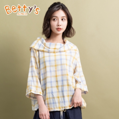 betty's貝蒂思 格布翻領造型上衣(淺黃)
