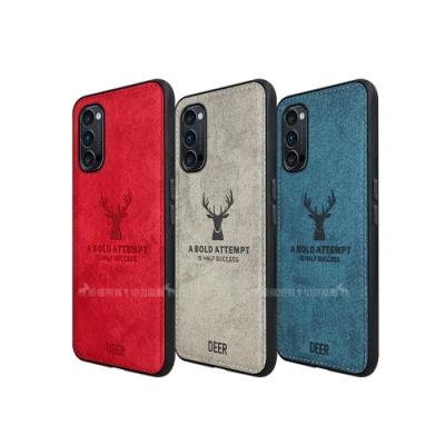 DEER OPPO Reno4 Pro 5G 北歐復古風 鹿紋手機殼 保護殼 有吊飾孔
