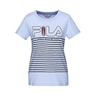 FILA 女款圓領短袖T恤-淺紫 5TET-1707-VT