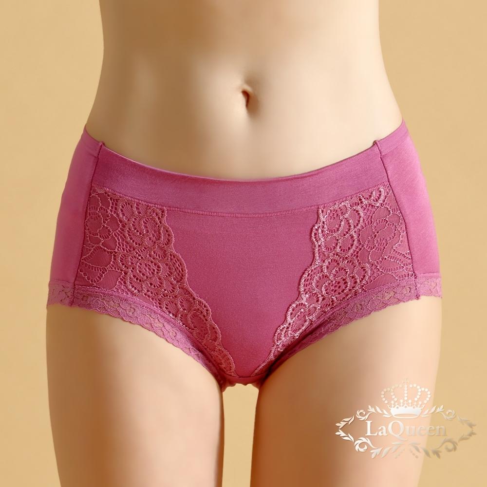 內褲 唯美蠶絲親膚小褲-桃紅 La Queen