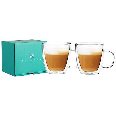 [買一送一]FUSHIMA富島 雙層耐熱玻璃杯經典禮盒370ML (把手)