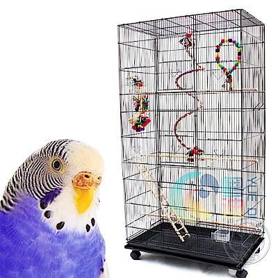 dyy》低碳鋼材鸚鵡|大鳥籠系列附輪78*48*140cm