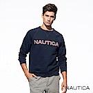 Nautica經典款品牌休閒長袖TEE-深藍