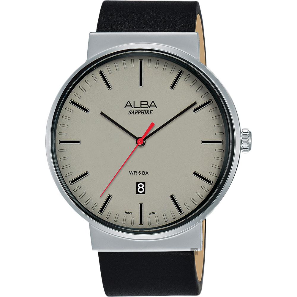 ALBA 雅柏 主張型男時尚手錶(AS9H45X1)-灰/44mm