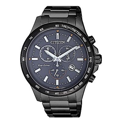 CITIZEN Eco-Drive 超越未來三眼計時腕錶(AT2425-80H)