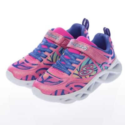 SKECHERS 女童系列 TWISTY BRIGHTS 燈鞋 - 302305LPKMT