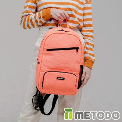 【METODO防盜包】ST 2-in-1 Bag L不怕割後背包/斜背包TSL-805清新橘/耐磨防潑水/旅遊包/休閒包