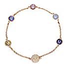 SWAROVSKI 施華洛世奇 Remix紫色系水晶玫瑰金手鍊手環